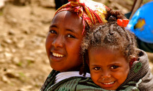 Two young girls in Ethiopia