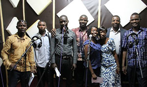 Sierra Leone writing team in studio