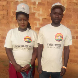 Alice and Geoffrey Mwaba in Kwishilya clothing